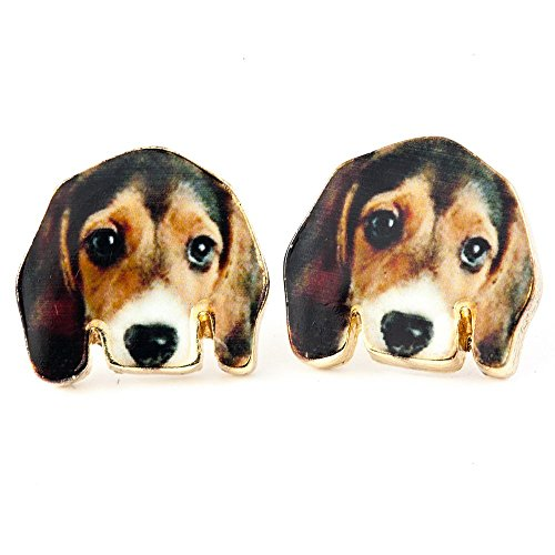 (Beagle Stud Earrings: Silver Dog Earring Set for Dog Mom, Cute Accessories, Gift Ready Jewelry)