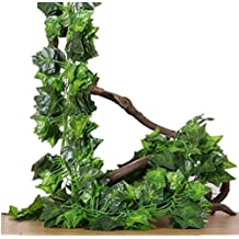 94 Ft-12 Pack Artificial Greenery Fake Ivy Leaves Vine Plants Garland Hanging for Home Kitchen Wedding Party Garden Wall Decor