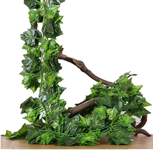 Arch Mirror Door Cabinet - 94 Ft-12 Pack Artificial Greenery Fake Ivy Leaves Vine Plants Garland Hanging for Home Kitchen Wedding Party Garden Wall Decor