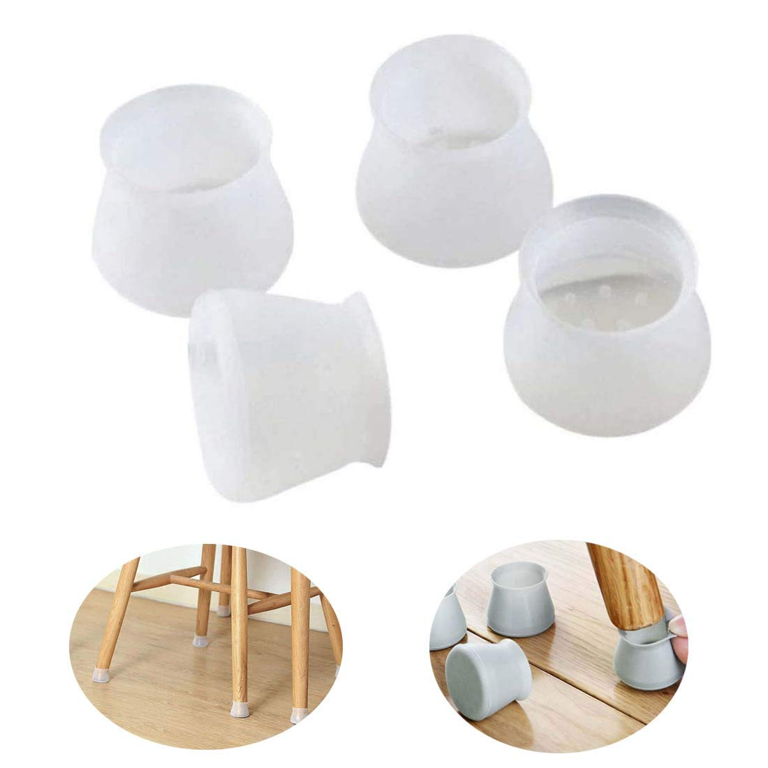 32 PCS Silicon Furniture Leg Protection Cover Table Feet Chair Leg Caps Feet Pads Floor Protector