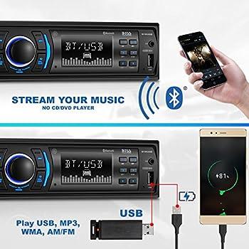 Boss Audio 616uab Car Stereo, Single Din, Bluetooth, Usbmp3wma Amfm Radio 1