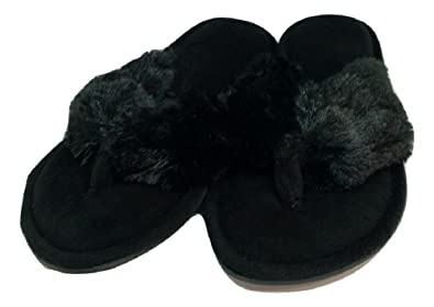 Amazon.com   Dearfoams Women\'s Pile Thong Slippers   Slippers