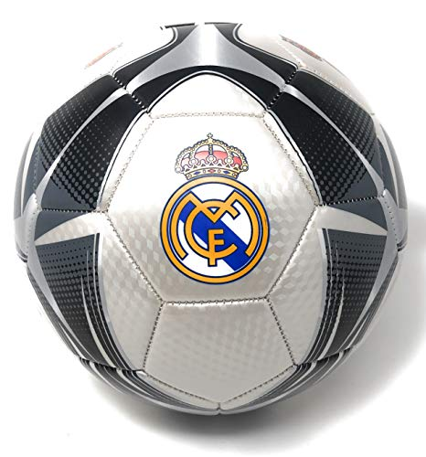 Real Madrid Soccer Ball Size 5 Official Licensed Futbol Silver 2019-2020 Great for Players, Fans, Trainers, Coaches Gift La Liga Espanol
