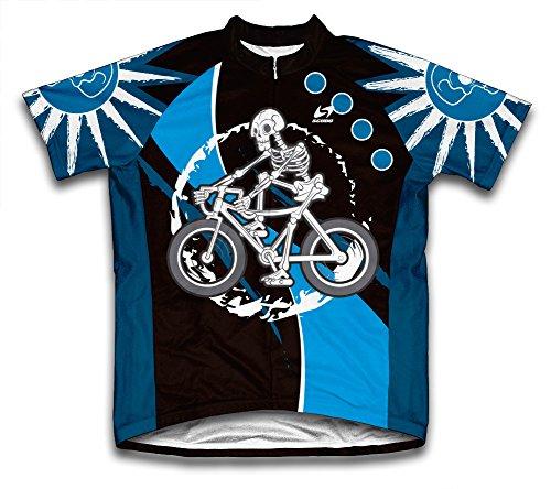 (ScudoPro Skeleton Biker Short Sleeve Cycling Jersey for Men - Size L )