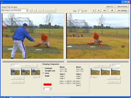 [Catching inMotion is the fifth volume in the five part Baseball inMotion multimedia software training series. This unique volume focuses on the fundamentals involved in pitching a baseball. Catching inMotion includes video clips from the DVD featuring former Fresno State University coach, Bob Bennett, Effective Practice Drills for Catchers. Catching inMotion is designed to help players master the proper infield play techniques by comparing their skills, side-by-side and in frame-by-frame sequence, against an acknowledged reference point.] (Baseball Throwing Fundamentals)