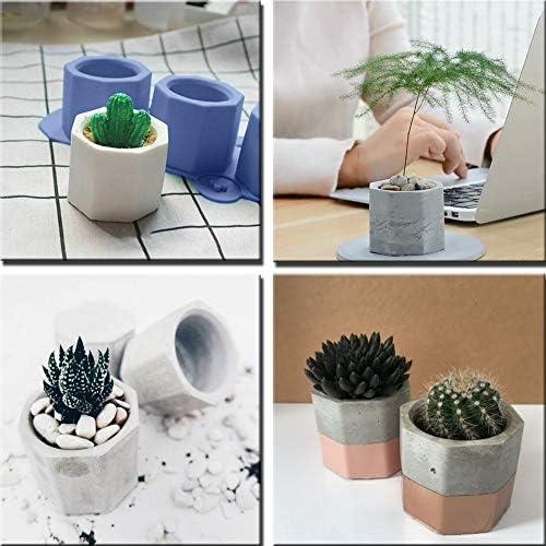 BK1077 DIY Silicone Pots Gypsum Cement Fleshy Plant for Succulent Plant Flower Vase Candlestick Mould Wytino Flower Pot Mould