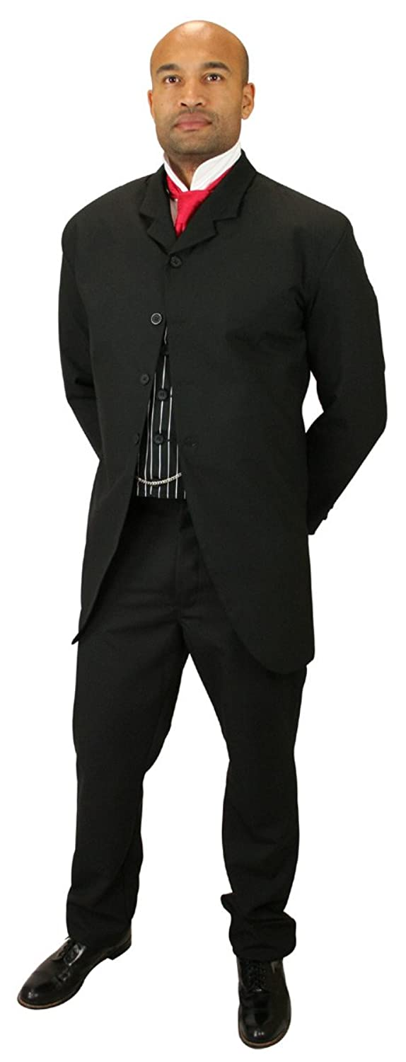 Victorian Mens Suits & Coats Historical Emporium Mens Callahan Cutaway Sack Coat $139.95 AT vintagedancer.com