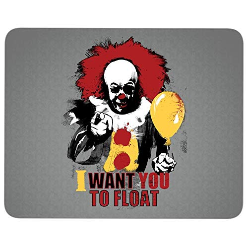 I Love IT Character Premium-Textured Mouse pad, I Want You to Float Killer Clown Mouse Pad for Home, Office, Game, Computer, Laptop (Mouse Pad - Dark Gray)