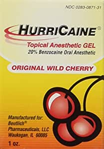 HurriCaine Topical Anesthetic Gel - Wild Cherry