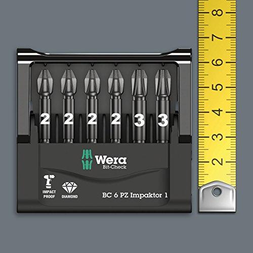 05057763001 15pc pack use with 897 4 IMP Holder Wera Bit-Box 15 Impaktor PZ2 TriTorsion Impact bits anti cam-out Pozi 2x25mm