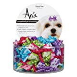 Aria Gracie Dog Bows Canister 48 Pcs, My Pet Supplies