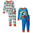 Thomas the Train Toddler Boys' Icon 4-Piece Pajama Set, Blue, 4T