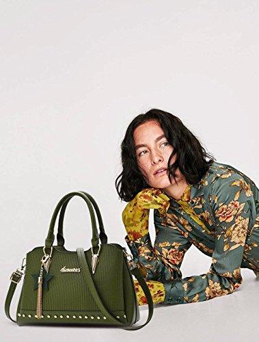 bandoulière Noir à Sac Top Sac Tote Tassel à à PU Main Cuir Green Sacs élégant Poignée Femme bandoulière Gxinyanlong I1wqBTzT