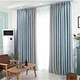Curtains Shading Bedroom Small Curtains Short Window Bay Window Floor Window soundproof Curtains 2018 New (Size : 2 * 2.7m)