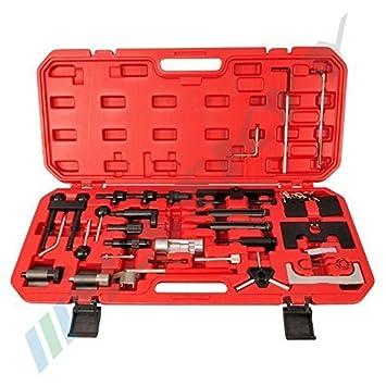 29 PC Motor herramienta de ajuste herramienta de bloqueo correa de distribución levas herramienta de vag Motores INCL. caja y manual: Amazon.es: Coche y ...