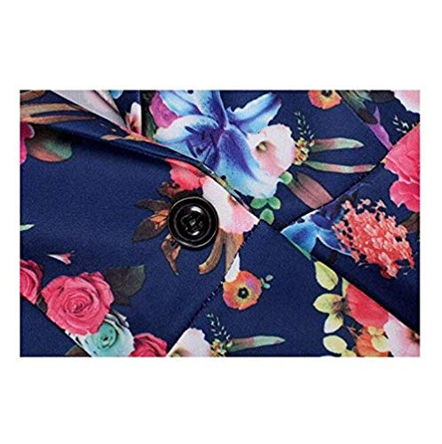 Lunga Confortevole Bavero Outwear Slim Donna Da Women Cappotto Giovane Fit Bianca Blazer Manica Floreale Tailleur Autunno Stampate Irregular Button Giacca OaqaS