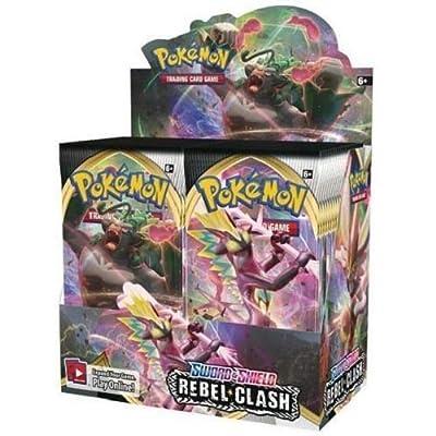Pokemon Rebel Clash Sword & Shield Booster Box - 36 Packs: Toys & Games