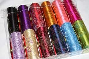 Wholesale - Estuche para barra de labios con espejo interior, (seda brocada), varios colores