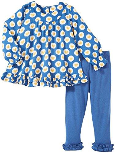 Masala Baby Girls' Elsa Dotted Heart 2 Piece Set (Baby) - Navy - 12-18 Months -