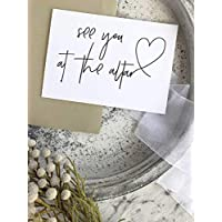 See You At The Altar Bride to Groom Wedding Day Card Husband To Be Gift