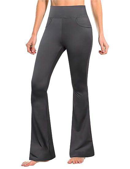 e5fb89e18c976 GloryStar Women's Petite/Regular/Tall Yoga Bootleg Pants, Long Flare  Bootcut Yoga Pants