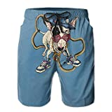 Hip Hop Dog Men's Swim Trunks Quick Dry Bathing Suits Summer Casual Surfing Board Shorts