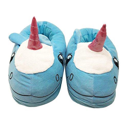 J&L - Zapatillas de estar por casa de algodón para mujer 43 EU Azul