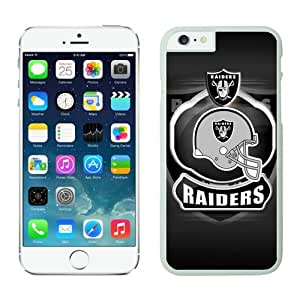 Oakland Raiders Case For iPhone 6 Plus White 5.5 inches