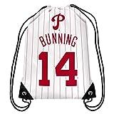 Philadelphia Phillies Bunning J. #14 Hall of Fame Drawstring Backpack