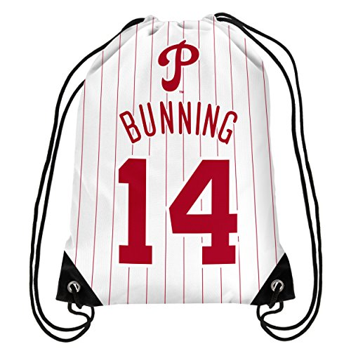 Philadelphia Phillies Bunning J. #14 Hall Of Fame Drawstring Backpack