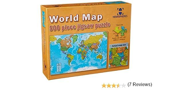 Round World Products World Map Puzzle, 500 Pieces: Amazon.es: Juguetes y juegos