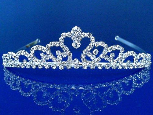 SC Bridal Tiara,Princess Tiara With Crystal Loops C6736 by SparklyCrystal