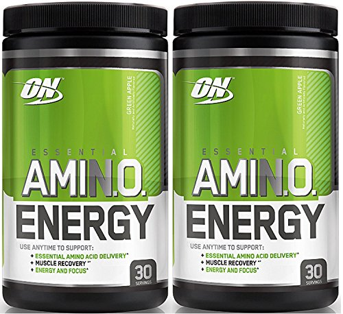 Optimum Nutrition Essential Amino Energy, Pack of Two 30 Servings (Green Apple 2 x 30 servings)