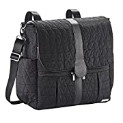 JJ Cole Backpack Diaper Bag, Black Tri Stitch