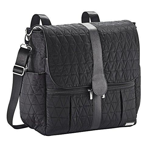 Diaper Messenger Bag Dash (JJ Cole Backpack Diaper Bag, Black Tri Stitch)