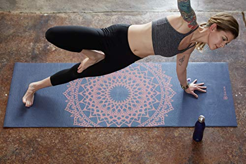 Pilates /& Floor Workouts Gaiam Yoga Mat Classic 4mm Print Thick Non Slip Exercise /& Fitness Mat for All Types of Yoga 68 x 24 x 4mm