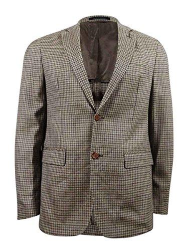 Ralph Lauren Men's Tan and Brown Checked Classic Fit Sport Coat Jacket, 40R -