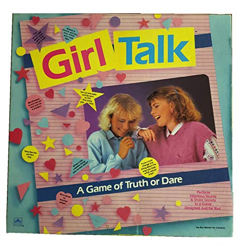 Western Publishing Vintage Girl Talk A Game of Truth or Dare - 1988 Edition