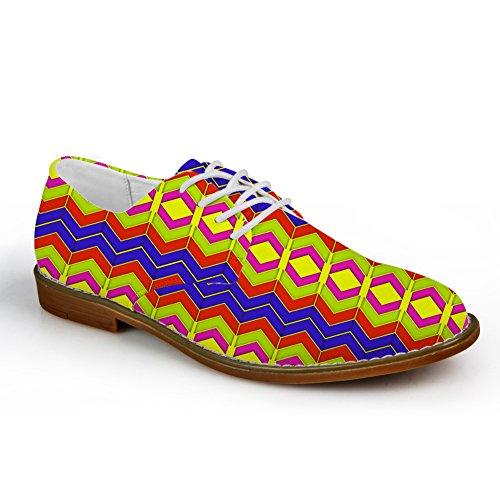 Kramar Idé Färg Mens Mode Plain Toe Oxford Klänning Sko Blandad Färg 6
