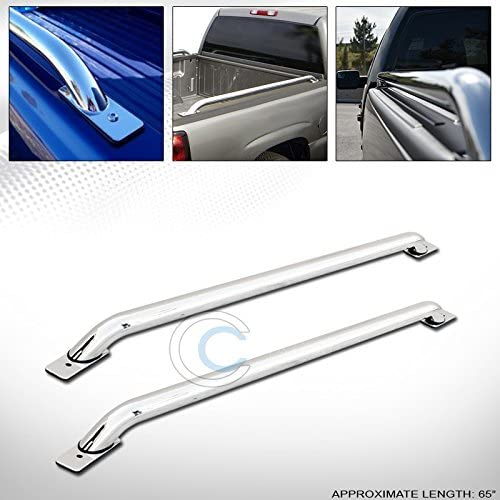 Silverado//Sierra 1500 5.8 Ft Bed R/&L Racing Stainless Steel Chrome Truck Side Bar Rails 07