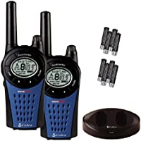 Cobra MT975 PMR446 Walkie Talkie Radio Twin Pack With Charger And Batteries - Black/Blue
