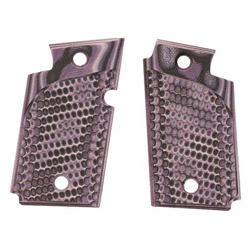 Hogue 98728 Sig P938 Ambidextrous Extreme Series Grip, Piranha G-Mascus G10, Purple Lava by Hogue
