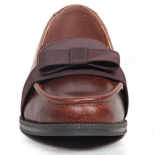 con in a per Western Salt basso tacco Pepper punta motivo scarpe pelle vera Décolleté wIxHpqR