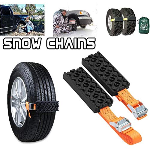 Gereton 2pcs Car Tire Snow Chains Set Universal Plastic Wheel Chain Winter...
