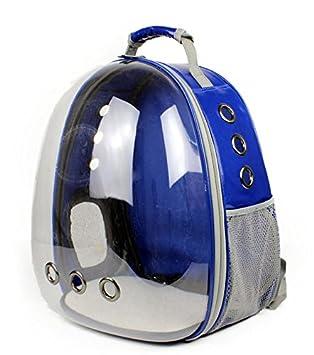Cutepet Transportín Portador para Mascotas Perros Gatos Pequeños Mochila para Llevar Perros Bolso De Transporte para Animales Al Aire Libre,Blue: Amazon.es: ...