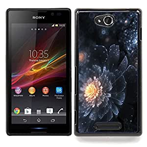 """Pulsar Snap-on Series Teléfono Carcasa Funda Case Caso para SONY Xperia C S39H C2305 , Pétalo universo de Star Sun Dark Mystery"""""""