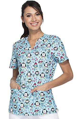 Dickies EDS Oh Snow Cute Scrub Top (X-Large, -