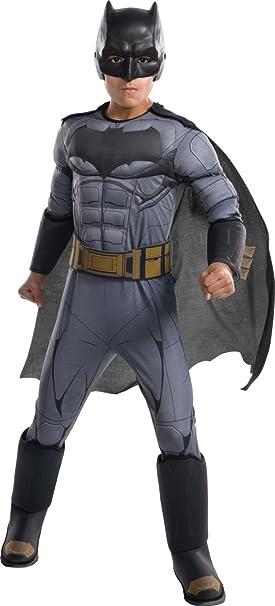 Amazon.com: Justice League Deluxe Batman Boys Costume: Toys ...