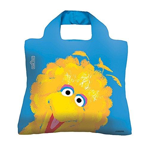 Envirosax Sesame Street Kids Reusable Shopping Bag, Big Bird Blue -