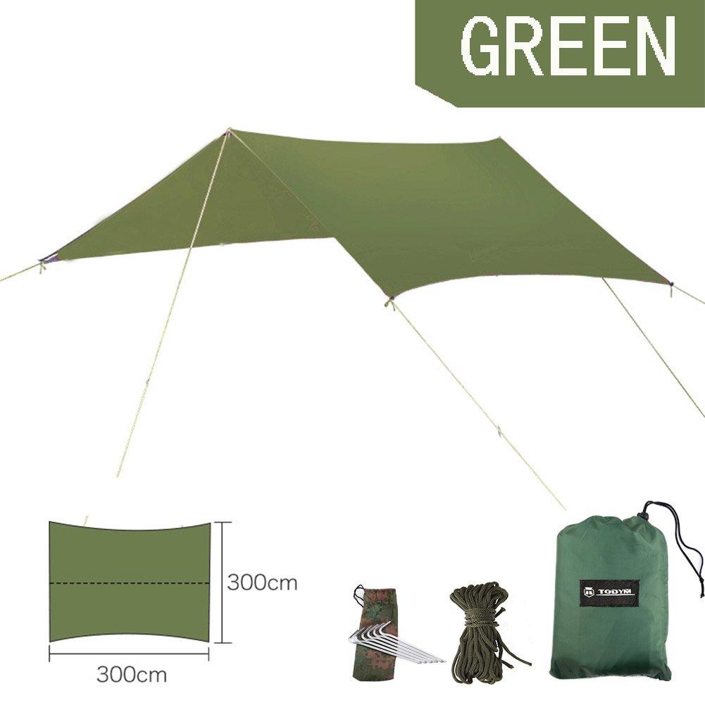 キャンプハンモックタープtodym防水軽量雨よけShelterリップストップキャンプナイロンサンシェードシェルターテントタープEssential Survival Gear Easy toセットアップ B074H5WV2R   Large